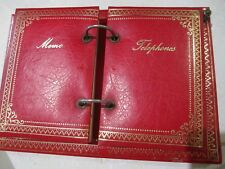 Collectible Memo/Telephone notebook in Red and gold Holder