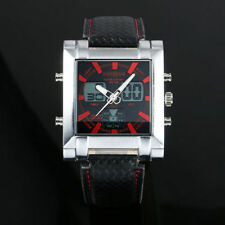 Unbranded Faux Leather Strap Luxury Square Wristwatches