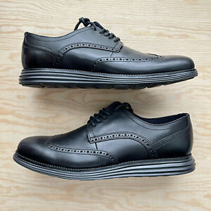 Mens Cole Haan Original Grand Shortwing Black Leather Size 10.5 US C27984