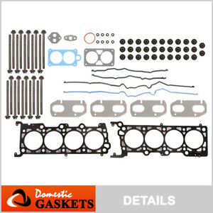 Fits 95-04 Lincoln Mercury Ford Mustang 4.6L DOHC INTECH Head Gasket Set Bolts