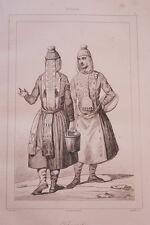 RUSSIE TCHOUVACHES  GRAVURE SUR ACIER 1838 РОССИЯ PRINT