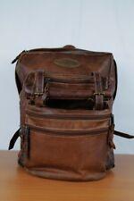 VINTAGE Backpack BROWN Leather HANDMADE  Backpacking School Rucksack