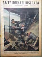 La Tribuna Illustrata 11 Aprile 1943 WW2 Arma Azzurra Livorno Calcio Film Fucini