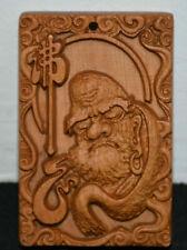6.0CM Chinese Wood Carved Rohan lohan Arhat Damo talisman amulet Pendant Statue