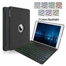 iPad Keyboard Case for 2017 New iPad 9.7 inch & iPad Air-LED 7 Colors Backlit