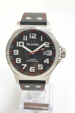 TW Steel TW411 Pilot Black Dial Leather Strap Men's Watch