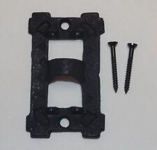 "3"" LONG BLACK CAST IRON SQUARE WALL BRACKET LAMP HINGE WITH SCREWS NEW 13926JB"