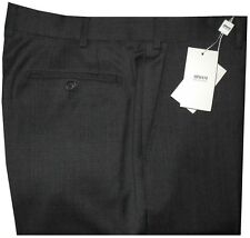 $345 NWT GIORGIO ARMANI COLLEZIONI HEATHER CHARCOAL WOOL DRESS PANTS 40