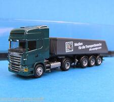 AMW h0 SCANIA r500 Benne-Semi-Remorque voiture-Tableau de bord de Camions camion neuf dans sa boîte HO 1:87 AWM Box