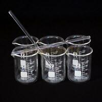 6pcs 100ML Chemistry Laboratory Beaker Borosilicate Measuring Glass Beaker