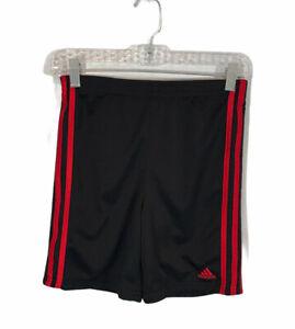 adidas Boys Athletic Shorts - Size 7  Black / Red