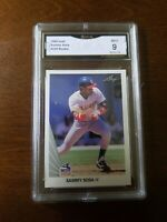 1990 Leaf #220 Sammy Sosa RC Rookie GMA 9 MINT