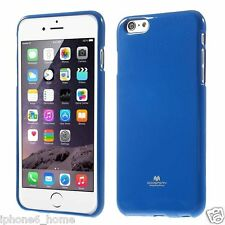Genuine Mercury Goospery Metallic Blue Jelly Case Cover for iPhone 6/6s Plus
