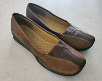 Privo by Clarks Womens Leather Brown Slip on Loafer Flats Sneakers 8.5M Shoes