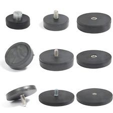 Neodym Magnet gummiert mit Gewinde Topfmagnet M4 bis M8 Größe 22mm bis 88mm