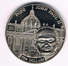 Liberia 10 dollars 2005 -- Pope John Paul II (box36)