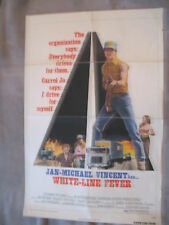 WHITE LINE FEVER 1975 Jan-Michael Vincent Truckers One Sheet Poster VG C6