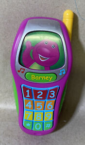2017 Mattel Barney Best Manners Toy Phone 7""