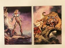 PROMO CARDS: BORIS VALLEJO & JULIE STROKES OF GENIUS: 2 Different P1 & P2