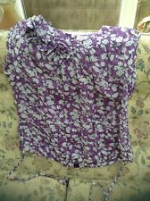 Pretty Ladies Phase Eight Purple floral Top Size 18 New
