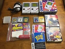 Nintendo Game Boy handheld System Model DMG-01 + 6 games cleaner manuals bundle