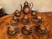 Vintage 6 Cups 6 Saucers German Bavaria Creidlitz Porcelain Coffee Set