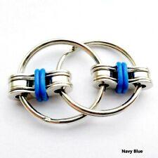 Bike Chain Fidget, Finger Spinner, Blue,~ Stress Relief,  ADHD, Sensory, Autism