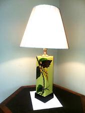 French Art Nouveau Lamp Hand Painted Signed Ceramic Restored Deco Floral Vintage
