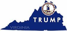 (2) TRUMP STICKERS VIRGINIA STATE POLITICAL BUMPER WINDOW DECAL