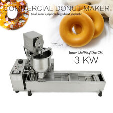 220V Commercial Automatic Donut Making Machine with 3 sets Mold & Wide Oil Tank