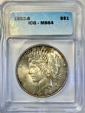 1922 S Peace Dollar ICG MS64