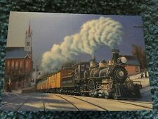 Leanin' Tree Christmas Card - Train Theme - Comstock Christmas Inventory #1124