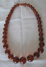 "Russian Soviet Baltic Honey Amber Necklace LARGE beads 23"" long Бусы Янтарь"