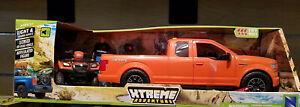 NIB New-Ray Ford F-150 Truck with Suzuki Vinson ATV 1:14 lights & sounds model