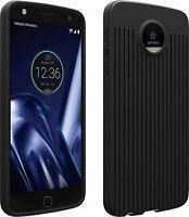 Verizon Textured Silicone Case for Moto Z Play Droid - Black