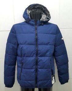NEW Tommy Hilfiger Reversible Hooded Bomber Jacket, Blue - M