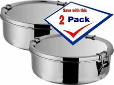 Flan mold 1.5 qt.  Molde para Flan. Stainless Steel Pack of 2