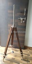Wooden Adjustable Tripod Modern Shade Lamp Tripod Stand Home & Office Decorative