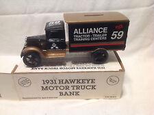 ALLIANCE RACING-ROBERT PRESSLEY 1931 HAWKEYE MOTOR TRUCK BANK ERTL #2173 1:34