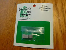 Evergreen Hill HO #646 /2-Drawer File Cabinet (Light Cast Metal)