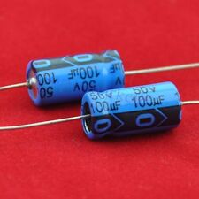 5pcs Axial Electrolytic Capacitor 100uf 50V for Audio Guitar Tube Amp DIY