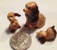 Hagen Renaker retired miniature figurine 3 pc Cocker Spaniel Dog playful pup*