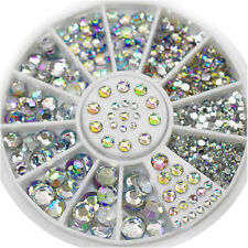 1 Box Nail Art Rhinestones Glitter Diamond Gems 3D Tips DIY Decoration Wheel NIU