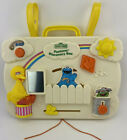 Vintage Sesame Street Busy Box Baby Crib Toy Activity Sounds 1986