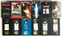 HORROR VHS LOT HOUSE WRONG TURN POLTERGEIST CHILDREN OF THE CORN III THE SOURCE