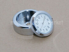 Windshield Windscreen Chrome Quartz Dial Clock Watch For Harley Cafe Racer