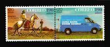 POSTAL SERVICE CHASQUI HORSE BIRD VAN WIND POWER ELECTRICITY 2017 MNH Uruguay