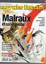 MAGAZINE LITTERAIRE N°347  1996 MALRAUX ET SA LEGENDE