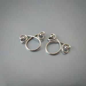 Non Piercing adjustable NippleRing Sterling silver 14 Karat gold plated