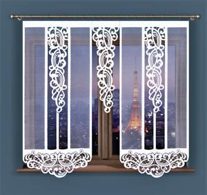 Curtain Panel Cafe Net Curtain Lace White Window Modern Decorative